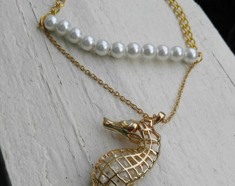 One of a Kind Sea Horse Necklace