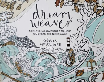 Adult colouring book filled with adventure, Mindfulness colouring book to help you relax, Dream Weaver Coloring book for Adults,