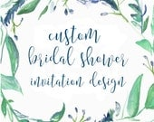 Custom Bridal Shower Invitation Designs