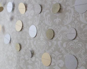Metallic garland, Glitter garland, Wedding decor, Circle garland, Party decor, Gold and silver garland, Party garland, Photo prop