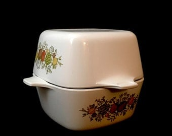 Corning Ware Casserole Dishes/Spice of Life/Vintage Corning Ware Casserole Dish/Corningwear