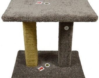 Cat Tree - Cat Scratcher - Kool Kitty Sisal & Carpet Pedestal