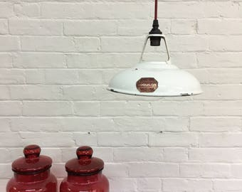 Industrial Vintage Enamel Coolicon Light Shade