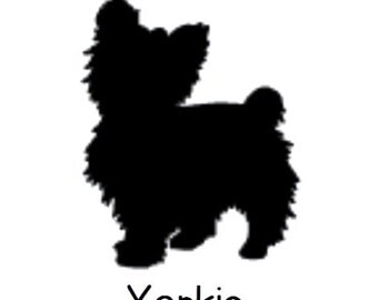 DIY Yorkie Dog Vinyl Decal, Animal Lover, Yorkie Owner, Laptop Decal, Tablet Decal, Cell Phone Decal, Car Window Decal, Drinkware Decal