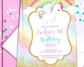 Rainbow Themed Invitations was awesome invitations ideas