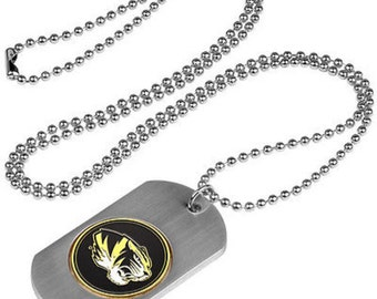 Missouri Tigers Stainless Steel Dog Tag Necklace