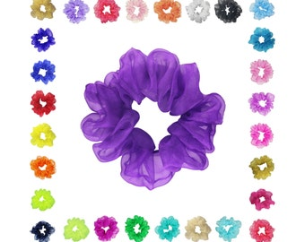 Scrunchies Organza Ponytail Holder (Free Shipping) 20+ Colors Hair Accessories Made in USA