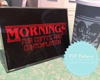 Mornings - Stranger Things Cross Stitch Pattern