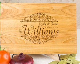 Wedding Gift, Cutting Board, Gift for couple, Custom Cutting Board, Cutting Board Personalized, Wedding Gift, Pattern Engraved Cutting Board