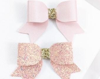 Blush Bows (Set of 2)