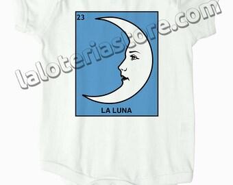 Custom La Luna Loteria Card Onesie - The Moon Mexican Bingo