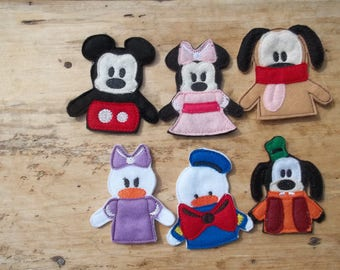 Playhouse Finger Puppets : Travel Toy. Toddler . Children . Pretend Play . Party Favors,Christmas gift, stocking stuffer