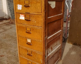 Wooden File Cabinet 6 Drawer