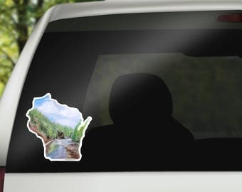 Wisconsin Vinyl Sticker - Wisconsin State Decal - Wisconsin Car Decal - Home State Decal - Cool Laptop Sticker - MacBook Sticker - RV decal
