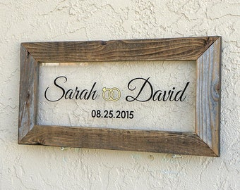 Custom Wedding Signs. Reclaimed Wood Frame. Personalized Wedding Sign. Established Sign. Custom Rustic Signs. Mr and Mrs Sign20x10