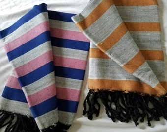 Hand Woven 100% Natural Cotton Lovely Scarf,Shawl,Wrap,Tablecloth,Beach Towel