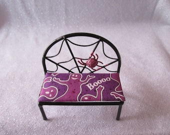 1/12 Halloween dollhouse miniature Boo Bench