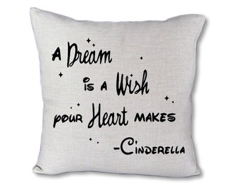 A dream is a wish pillow cover