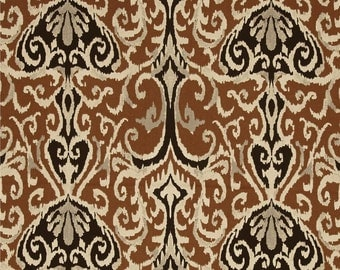 Custom Shower Curtain Winchester Ikat Chocolate Dark Brown Vream Black 54 X  78 Long Shower Curtain