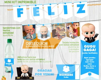 Printable and editable texts kit with The boss baby! Gugu gaga! INSTANT DOWNLOAD!