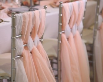 Chiffon Chiavari Chair Sash | Wedding Chair Sashes