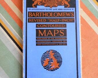 Vintage Bartholomew's Map - Dartmoor