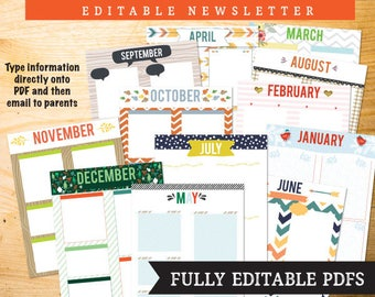 Monthly Newsletter - Fully Editable PDF' for any organization