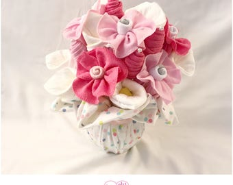 Washcloth Bouquet - Baby Shower Gift /Bouquet for Girl
