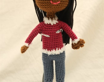 Amigurumi Stuffed Doll with Jeans