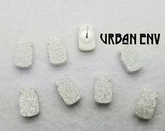 YOU PICK COLOR - Mason jar Glitter acrylic laser cut cabochon - 8 pcs