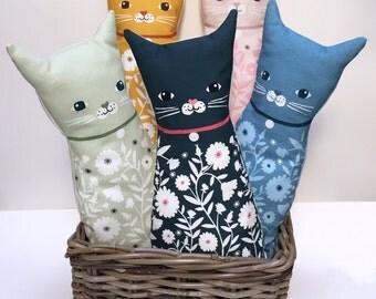 Plush Cat Doll Cushion, Black