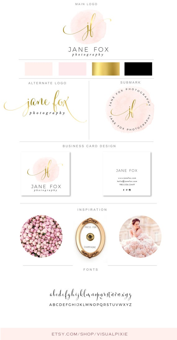 PREMIUM Branding Package Logos & Business Card Design Gold