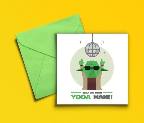 Yoda Man Birthday Card