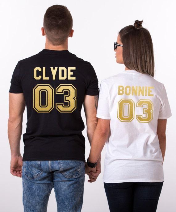 Bonnie Clyde 03 Set of 2 Couple T-shirts Bonnie by ...