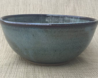 Cereal Bowl, Small Blue/Brown Bowl, Ceramic Bowl, Handmade Bowl