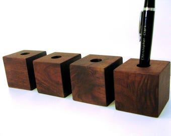 Black Walnut Pen Holder / Black Walnut Pen Display / Black Walnut Stylus Holder / Black Walnut Stylus Holder / Walnut Wood Desk Organizer