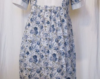 "Long summer dress, little Darling ""white/blue Gr.L"