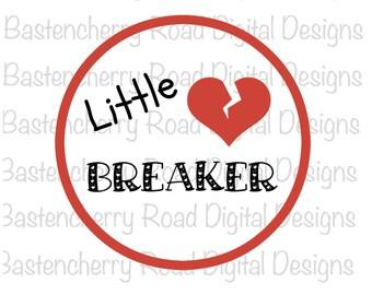 Little heart breaker svg, valentine svg,  Cut File, svg, Cricut, Silhouette, Instant Download, svg Design, Vinyl, svg file