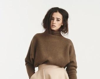 Turtleneck Sweater, Wool Sweater, Women Sweater, Women Blouse, Long Sleeve Sweater, Turtleneck Blouse, Loose Blouse, Jersey Sweater, Sweater