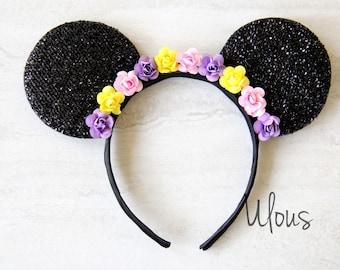 Tangled Mickey Ears, Rapunzel Mickey Ears, Tangled Ears, Rapunzel Ears, Princess Mickey Ears, Mouse Ears, Tangled, Flower Mickey Ears, Ears