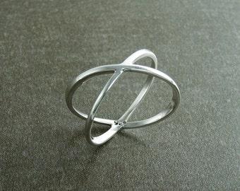 X Ring, Cross Ring, Silver X Ring, Popular X Ring, X-Ring, criss-cross ring, silver ring, statement ring, women, popular ring, Criss Cross