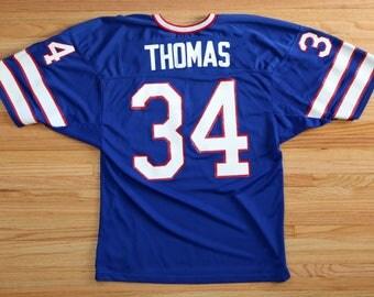 Vintage 90's Buffalo Bills #34 Thurman Thomas Jersey SZ XL