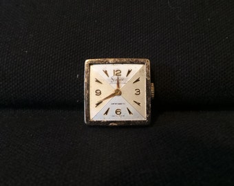 SALE Vintage Sheffield Watch Face Gold Art Collage Jewelry
