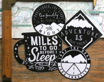 Vinyl Stickers - Black and White Sticker Set