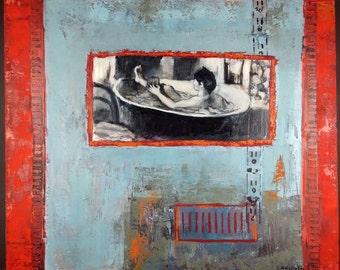 Jocelyne Briselet (French) Oil Painting Original Tableau Peinture Huile