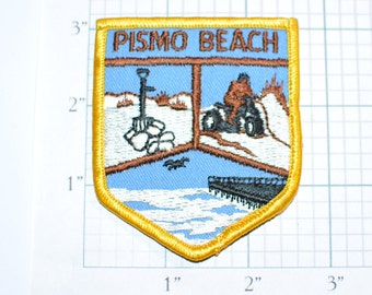 Pismo Beach California Patch Rare Vintage Iron-on Travel Patch Souvenir, Jeans Patch Jacket Patch Backpack Patch Embroidered Patch e20b