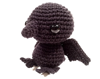 Crochet amigurumi Raven toy, Stuffed Toy, Plush, Plushie, Stuffed Animal, Toy, Stuffed crow, baby toy, Baby Shower Gift, crochet amigurumi
