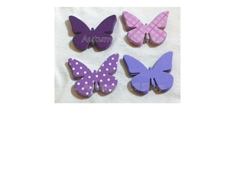 Butterfly Die Cuts, Paper Butterflies, Butterfly Tags, Butterfly Cutouts, Butterfly Confetti, Purple Baby Shower, Cardstock Butterfly, 80