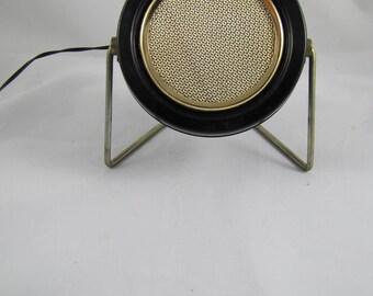 Vintage Fedtro Round Tabletop Speaker, Retro Tabletop Stereo Speaker, 1960's Speaker, Mid Century Stereo Speaker, Made in Japan