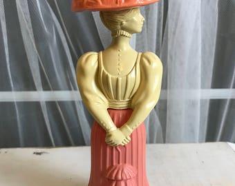 Avon Fashion Figurine Gay Nineties Girl Perfume Bottle, Victorian Era